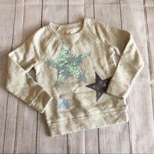 Crewcuts sequin Star sweatshirt